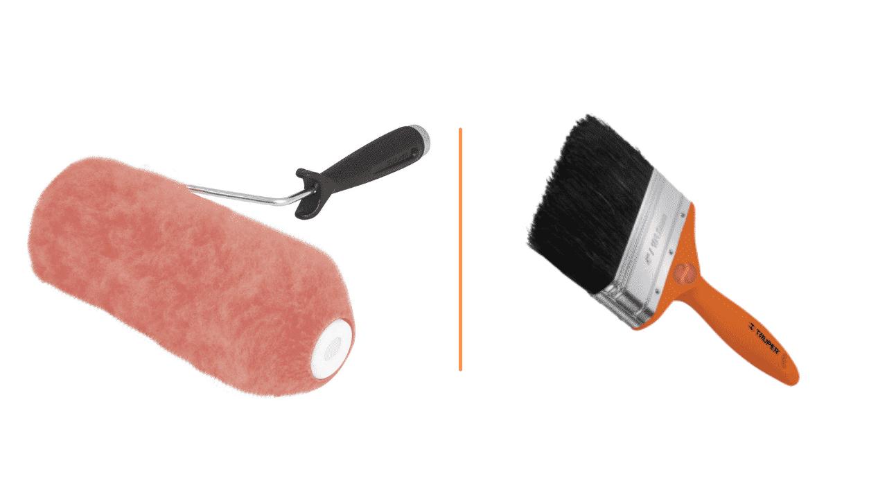 Rodillos o brochas para pintar: ¿Cuál es mejor?